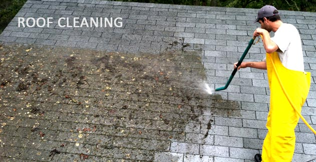 Residential roof cleaning dirt hunter professional cleaning - Using water pressure roof cleaning ...